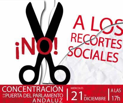 Concentración ante el parlamento de Andalucía el 21-12-2011 a las 17h.Unete y participa